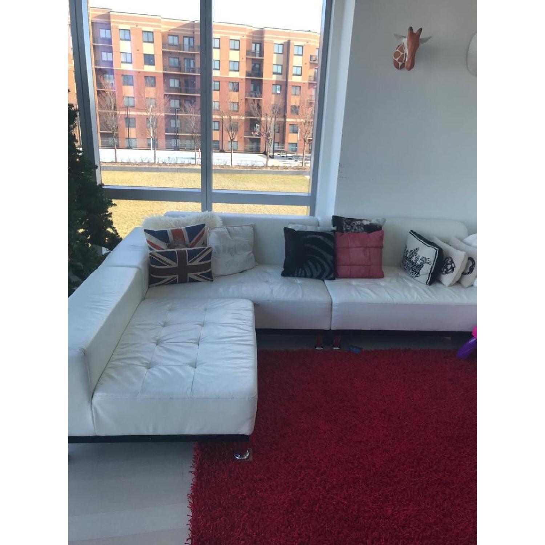 Modani White Eco Leather Phantom Sectional Sofa-0