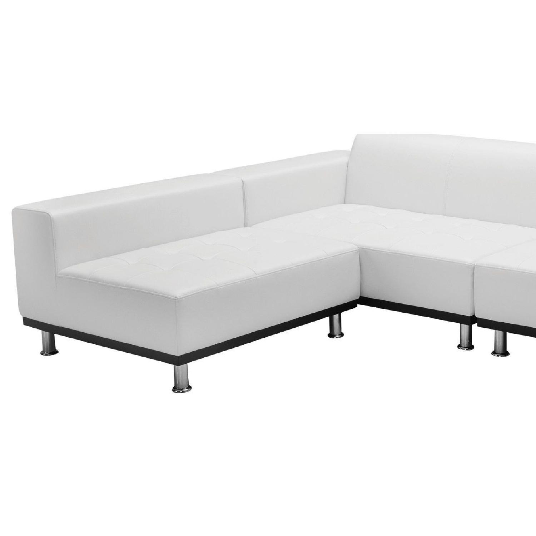 Modani White Eco Leather Phantom Sectional Sofa-4