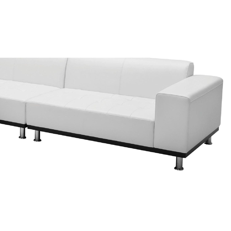 Modani White Eco Leather Phantom Sectional Sofa-5