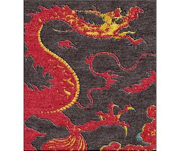 Handmade Wool Shivhon Ryu Dragon Rug