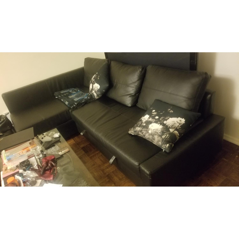 Ikea Friheten Sleeper Sectional Sofa w/ Storage-0