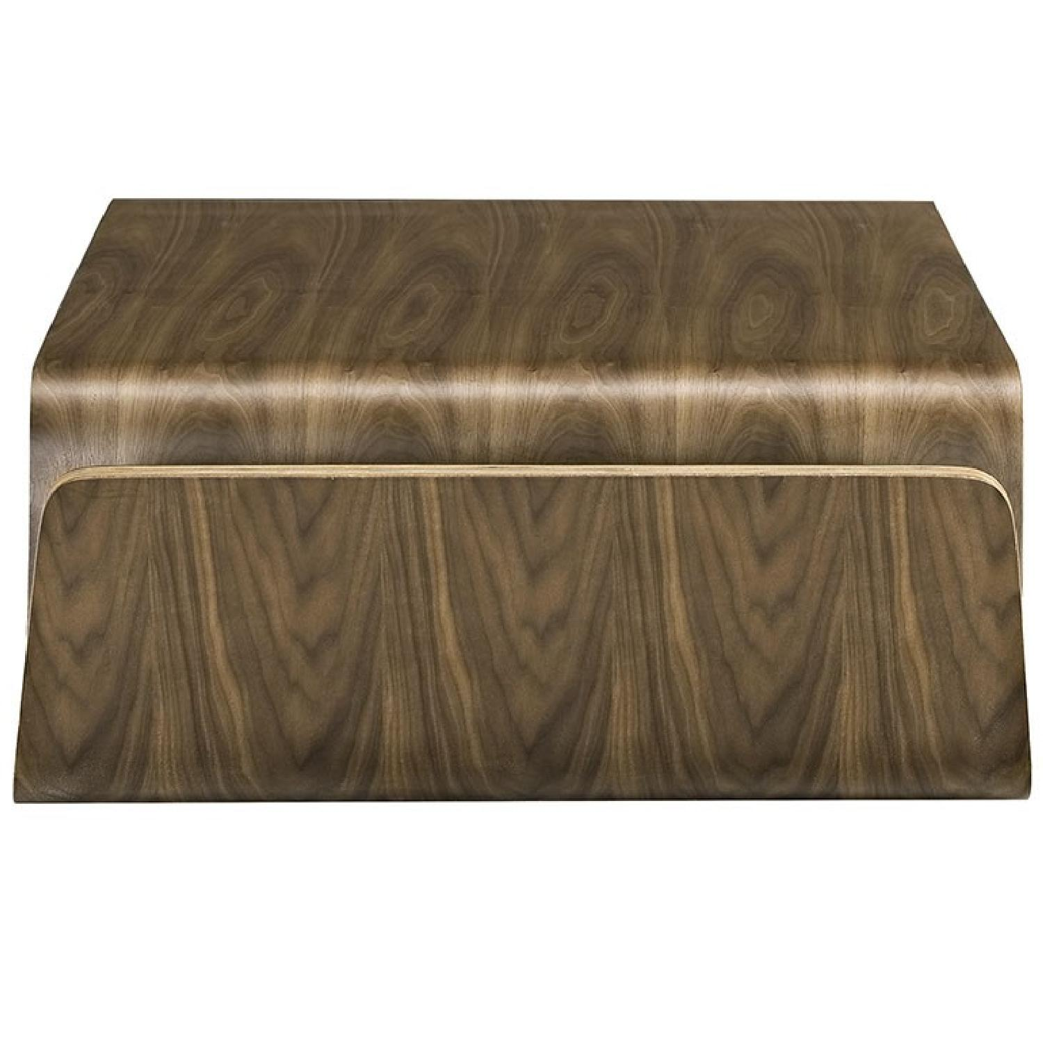 Manhattan Home Design Wood Coffee Table in Walnut-0