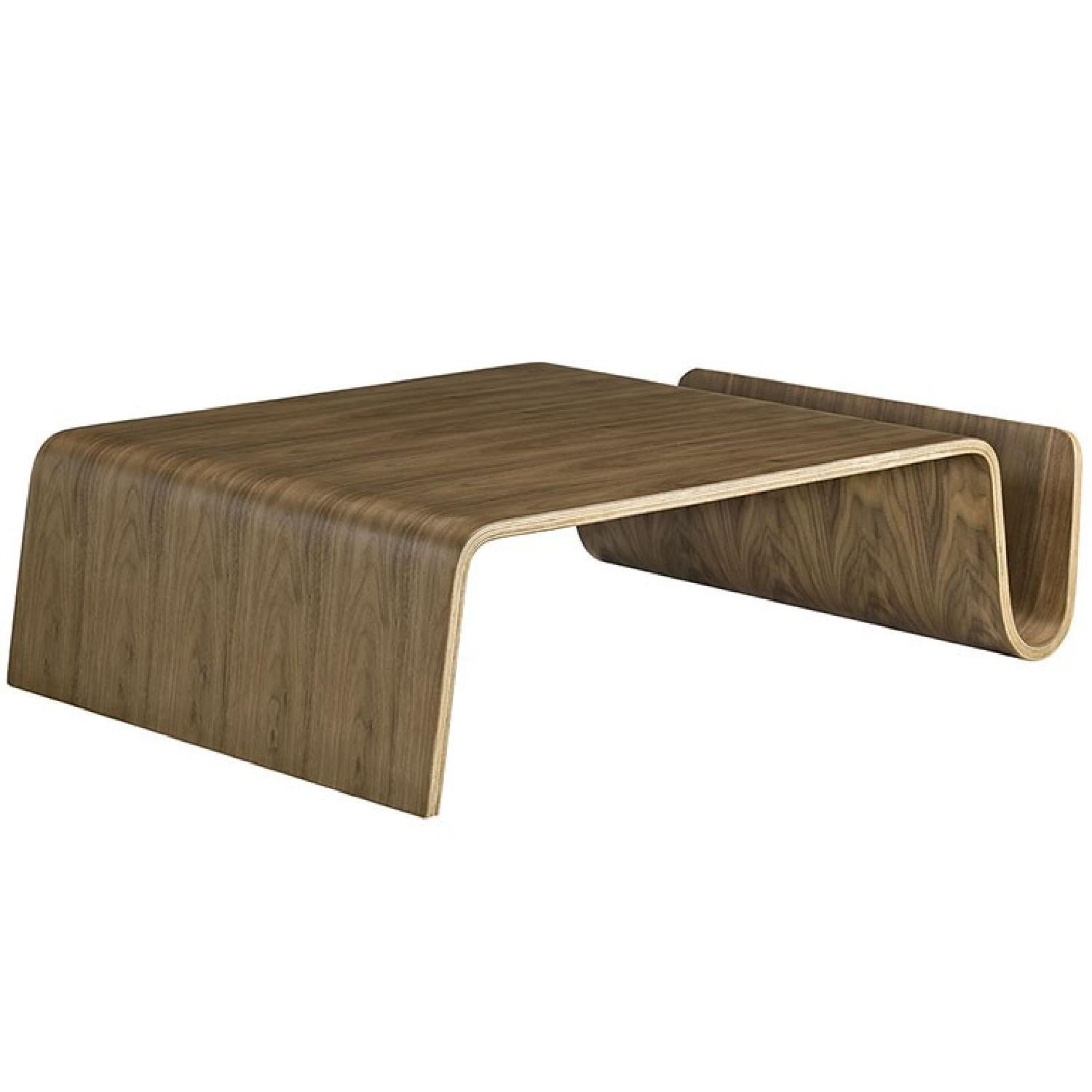 Manhattan Home Design Wood Coffee Table in Walnut-1