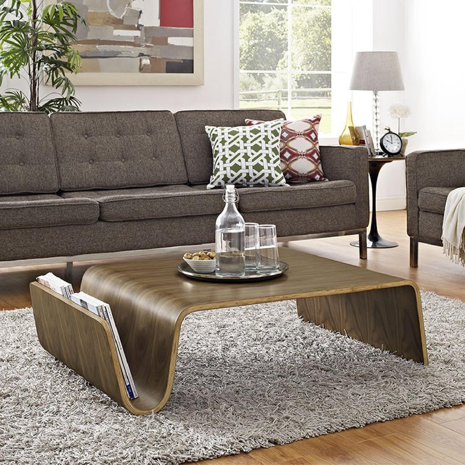 Manhattan Home Design Wood Coffee Table in Walnut-2
