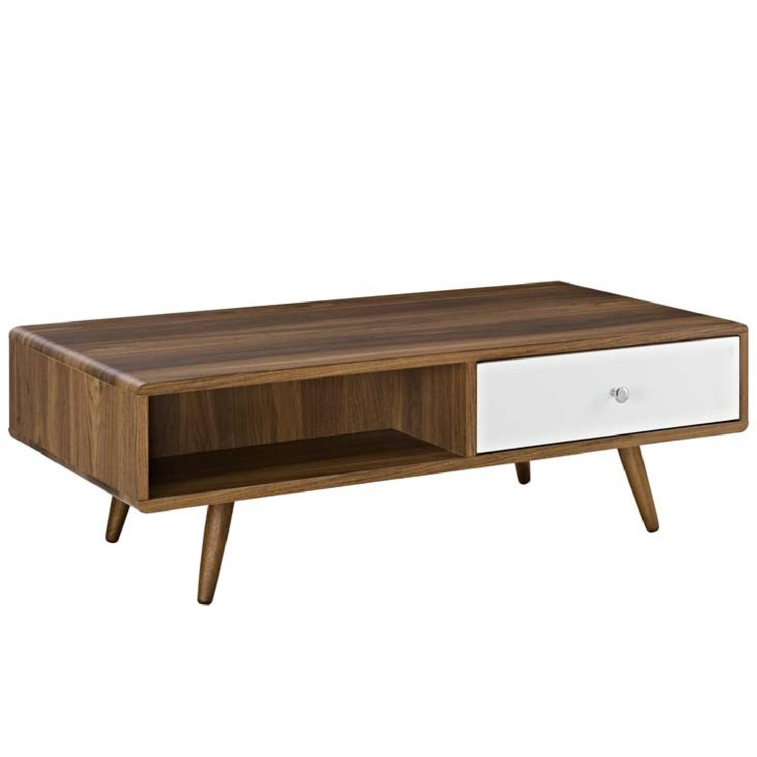 Manhattan Home Design Transmit Coffee Table In Walnut White