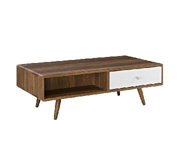 Manhattan Home Design Transmit Coffee Table In Walnut White