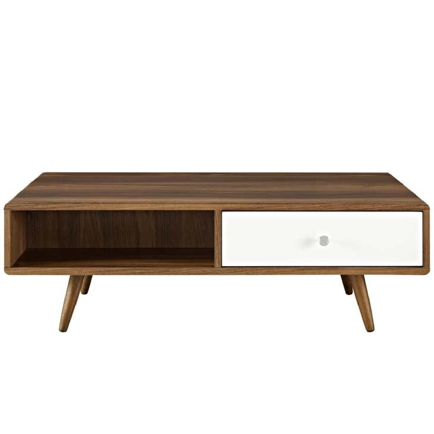 Manhattan Home Design Transmit Coffee Table In Walnut White-2