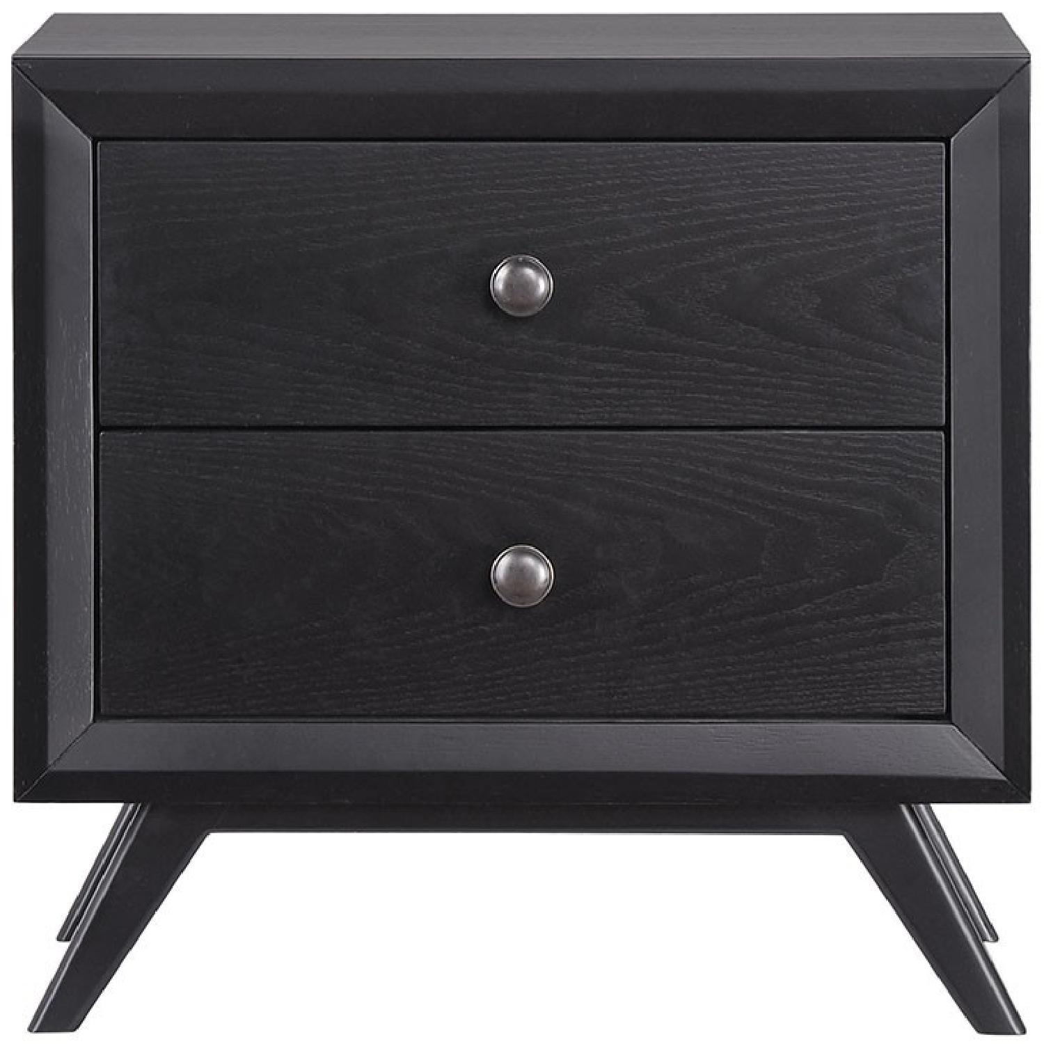 Manhattan Home Design Tracy Bedroom Nightstand in Black-0