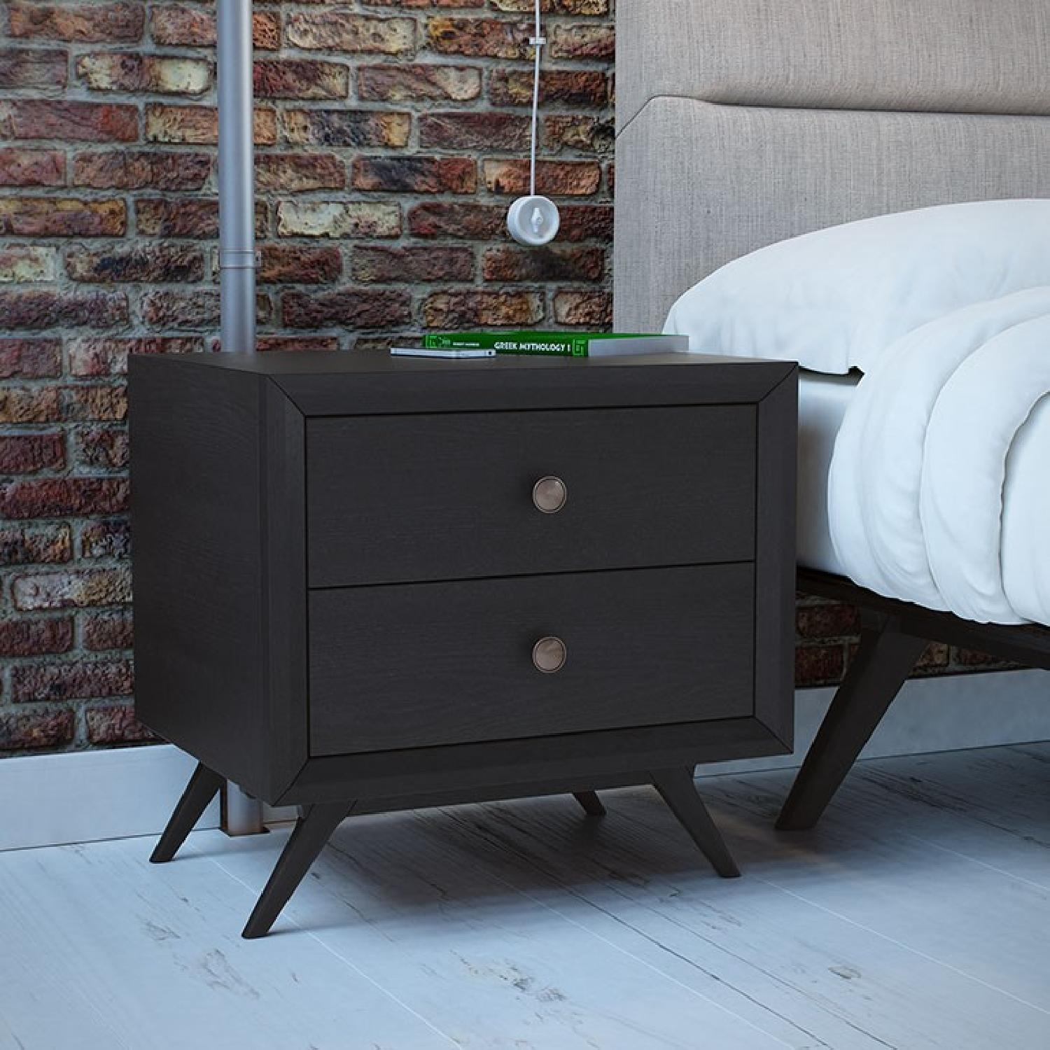 Manhattan Home Design Tracy Bedroom Nightstand in Black-1