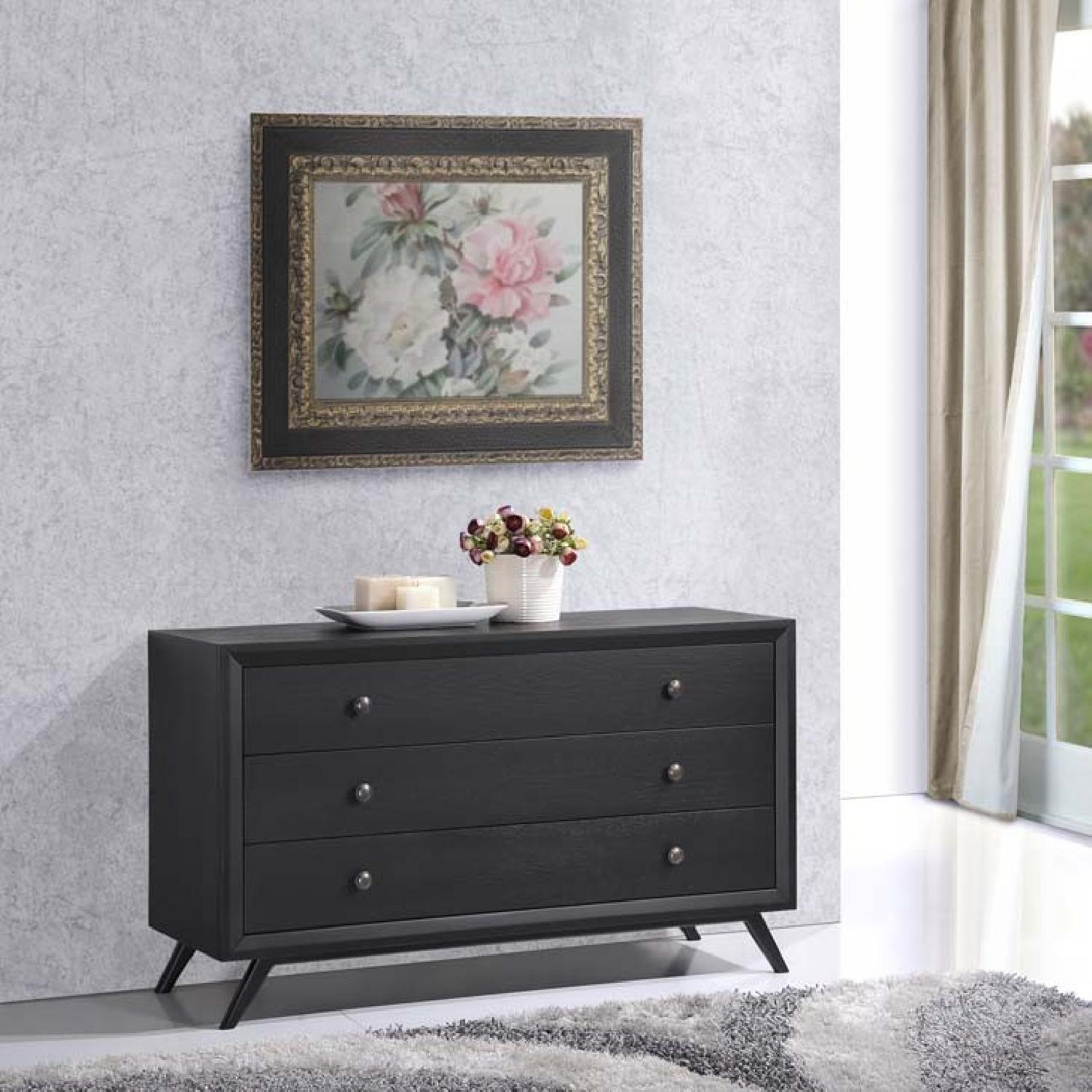 Manhattan Home Design Vintage Wood Dresser in Black-1
