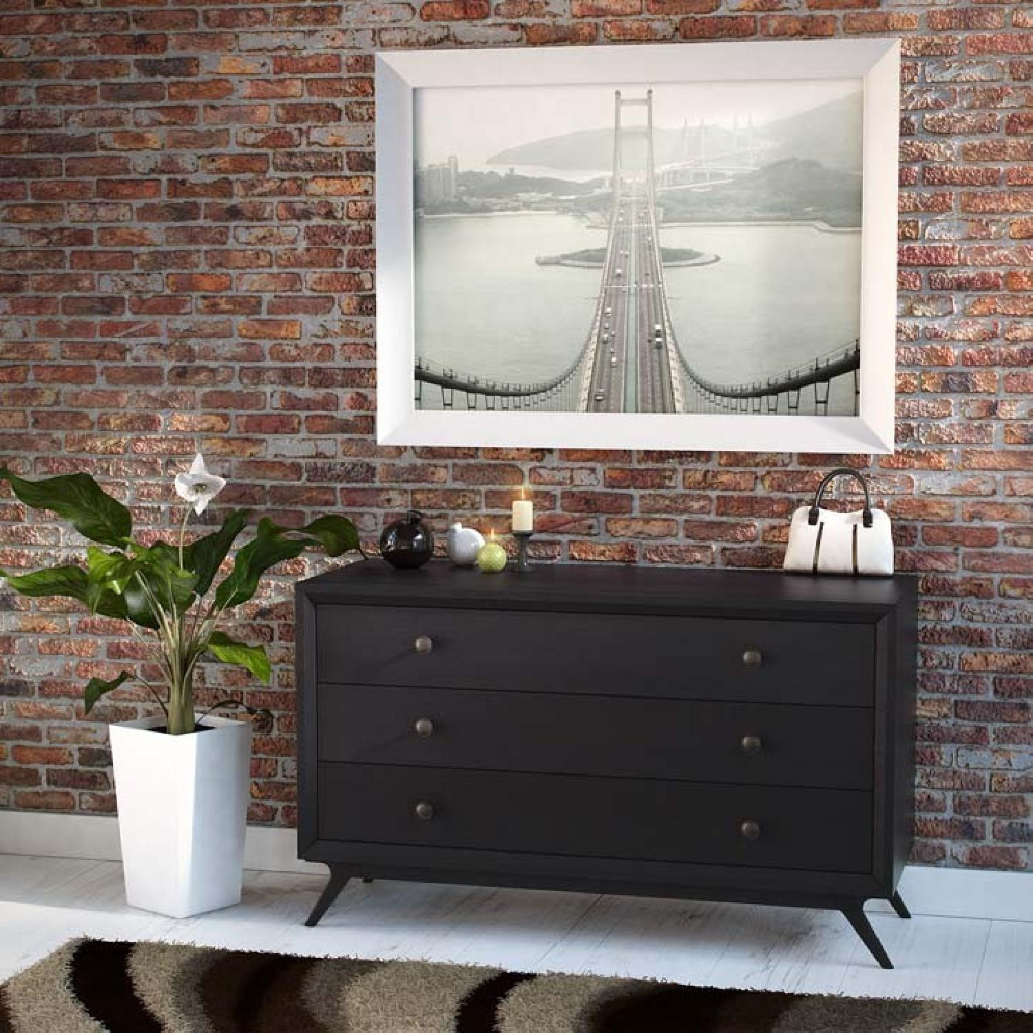 Manhattan Home Design Vintage Wood Dresser in Black-4