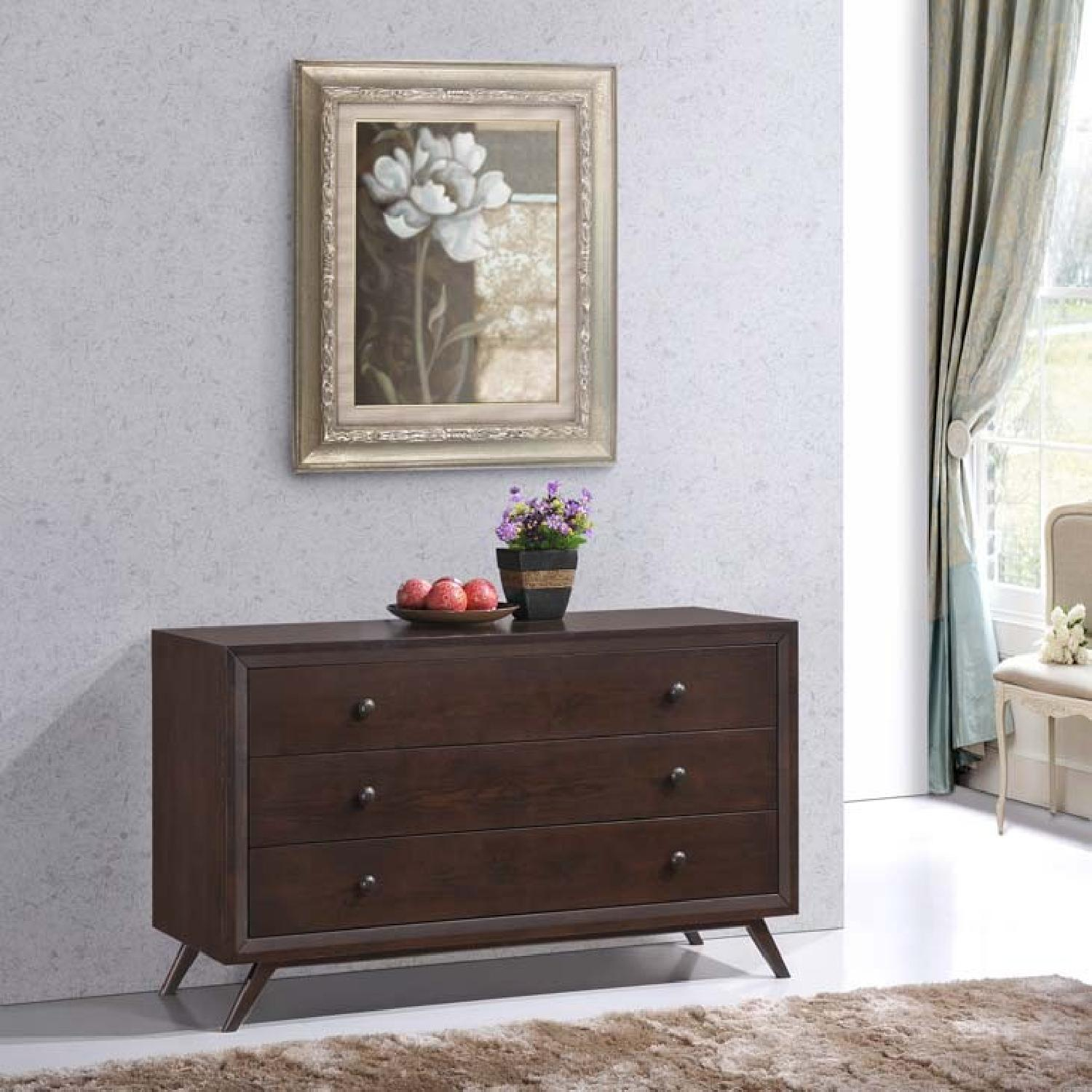 Manhattan Home Design Vintage Wood Dresser in Black-6