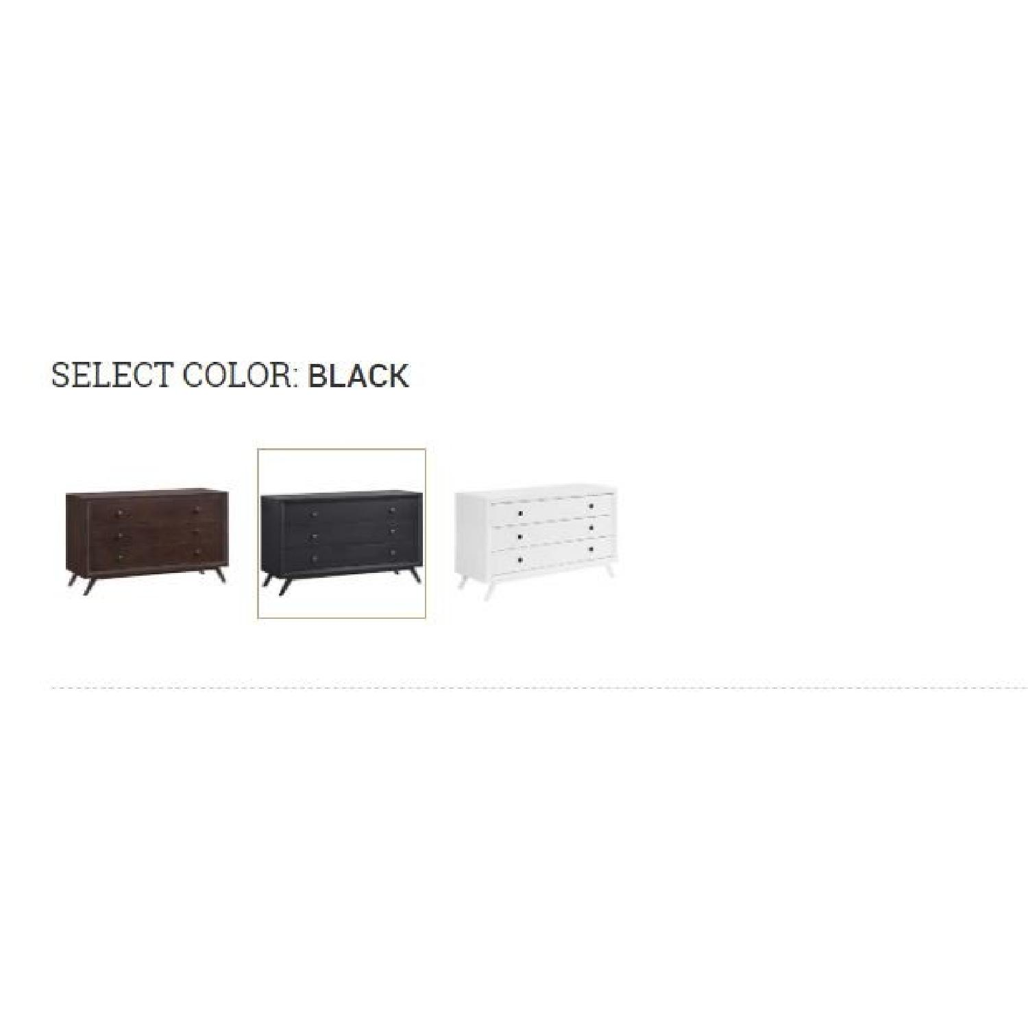 Manhattan Home Design Vintage Wood Dresser in Black-7