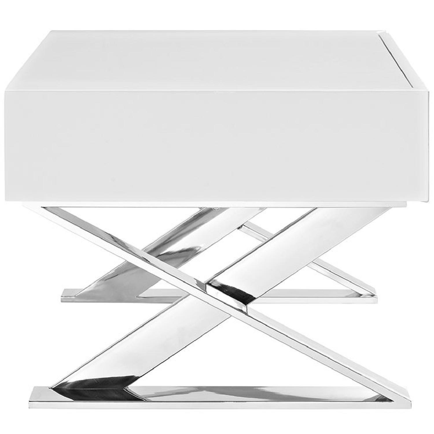 Manhattan Home Design Sector Nightstand in White-1