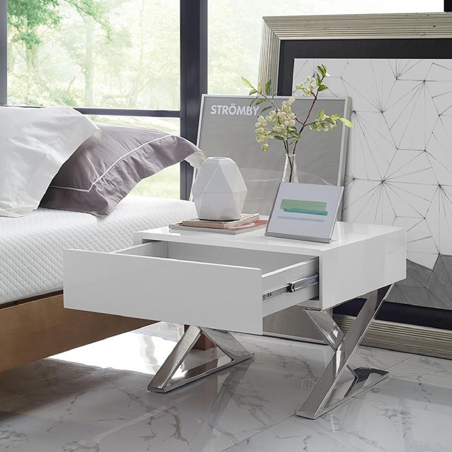 Manhattan Home Design Sector Nightstand in White-3