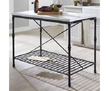 Marble & Stainless Steel Kitchen Island/Counter Top