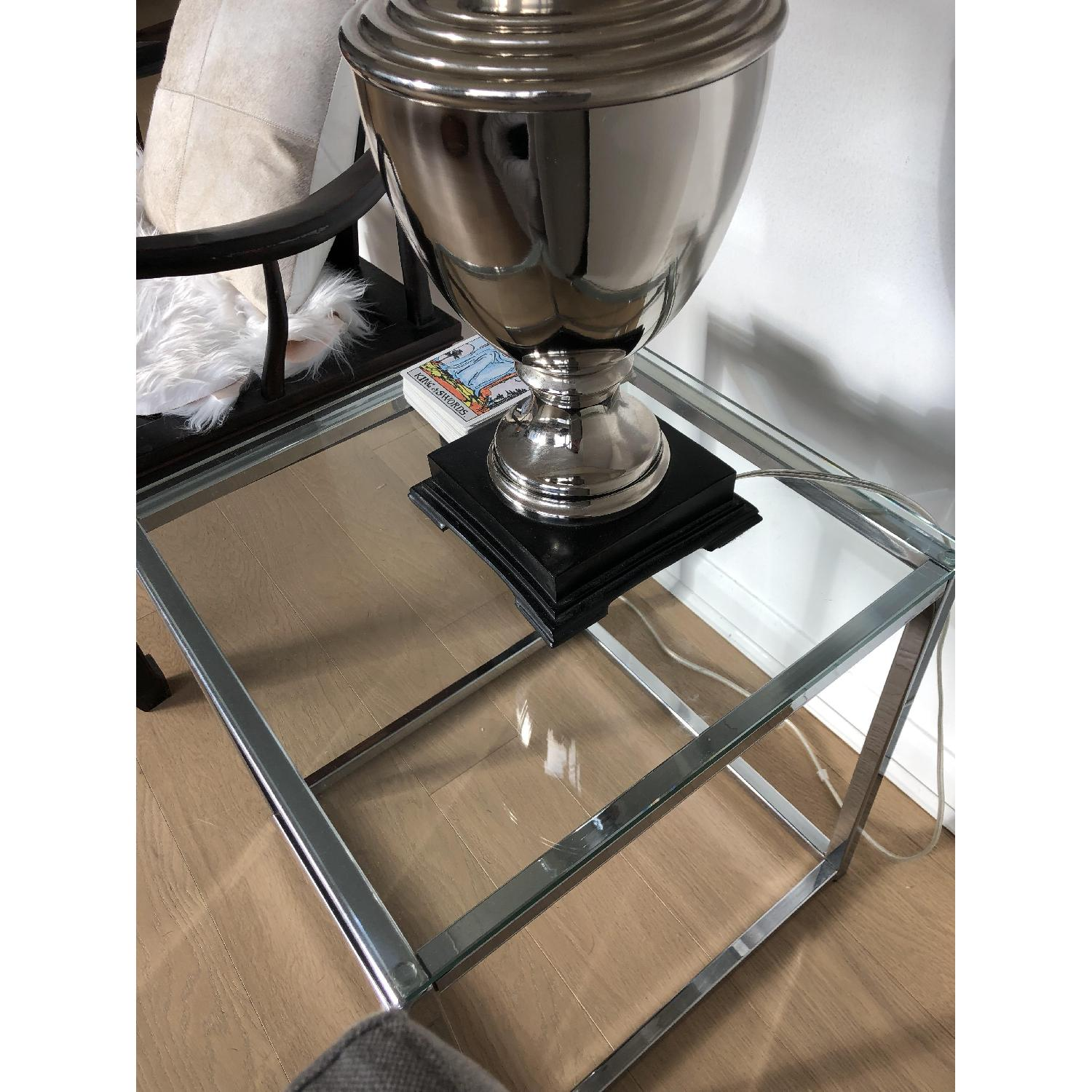 CB2 Smart Glass Top Side Table-1