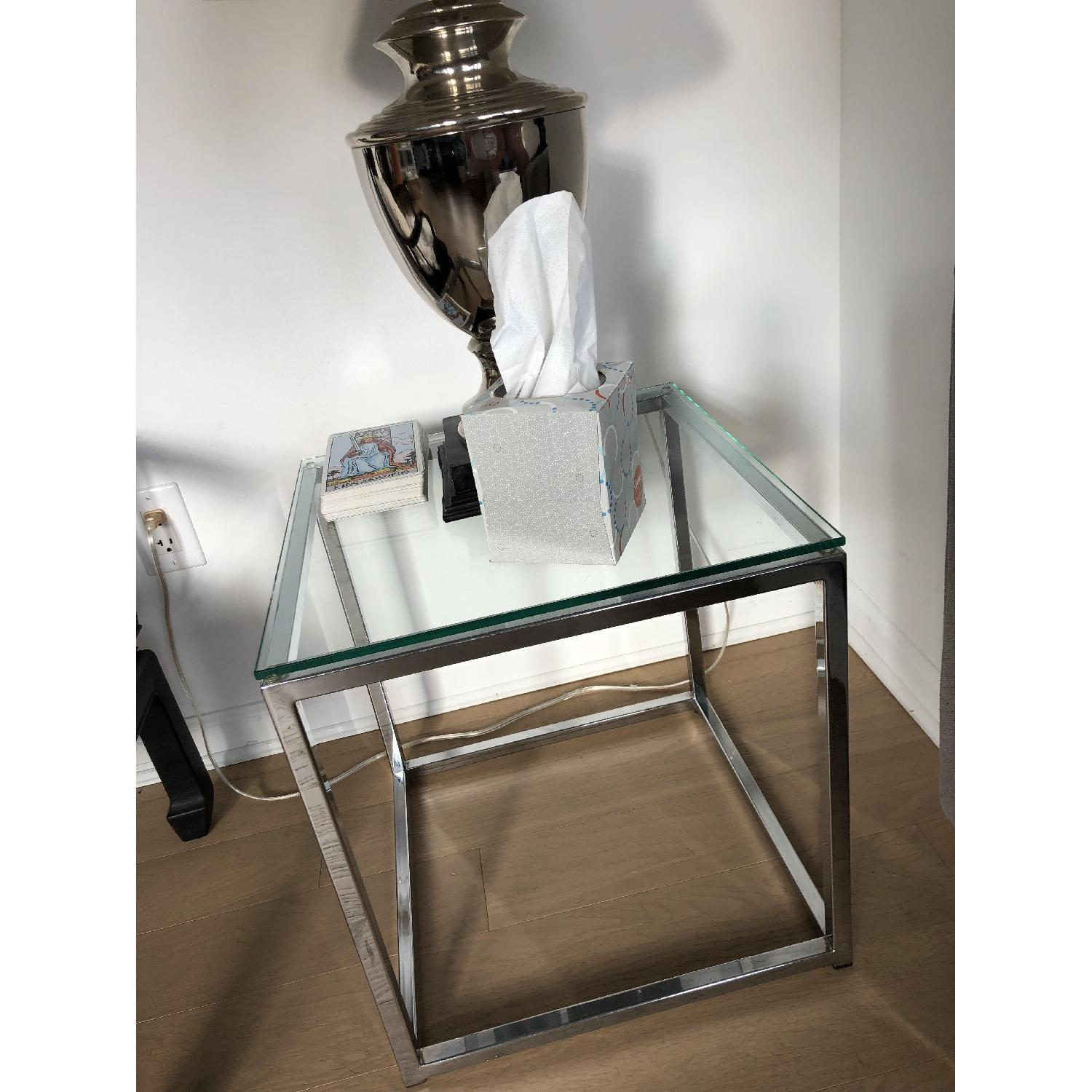 CB2 Smart Glass Top Side Table-2