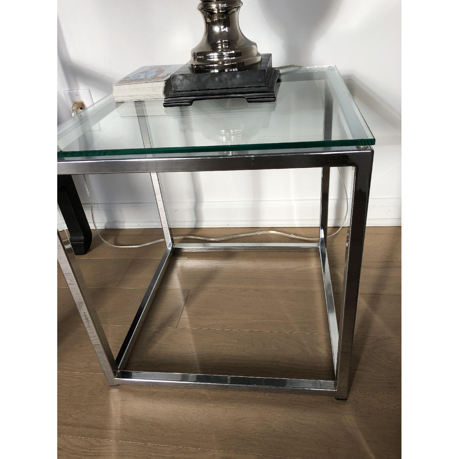 CB2 Smart Glass Top Side Table-3