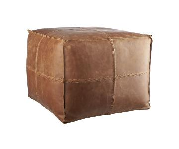 CB2 Leather Pouf