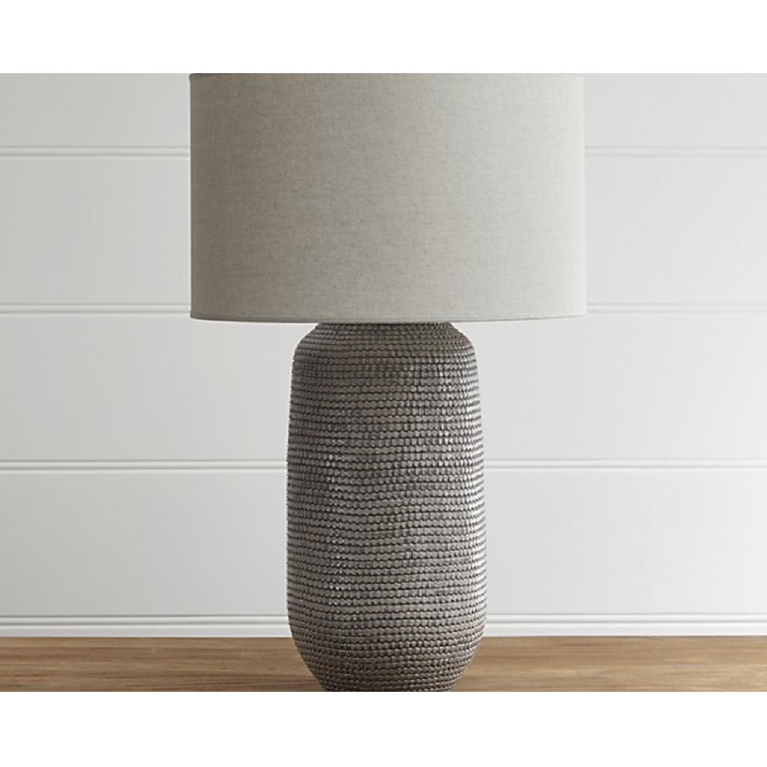 Crate & Barrel Cane Grey Table Lamp-0