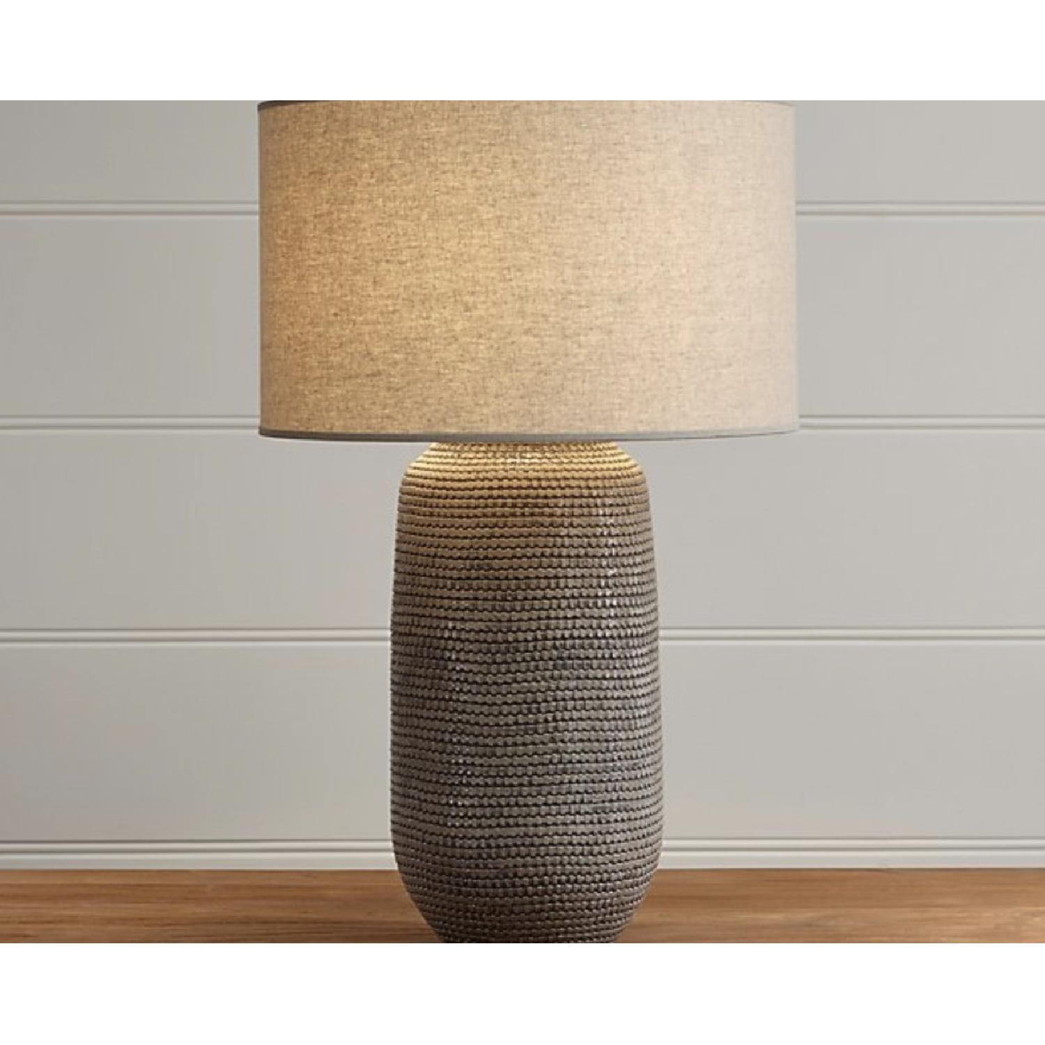 Crate & Barrel Cane Grey Table Lamp-1