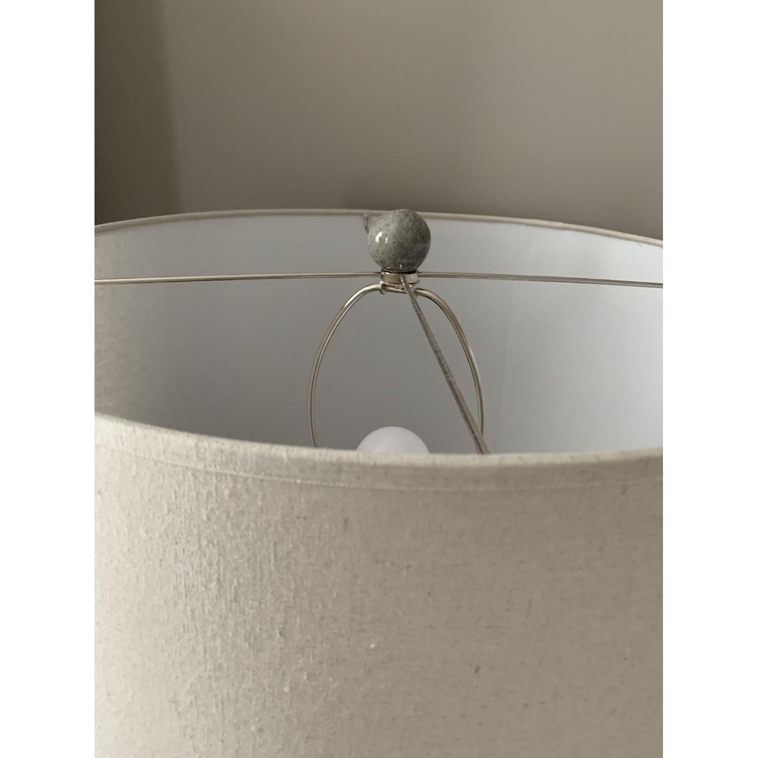 Crate & Barrel Cane Grey Table Lamp-3