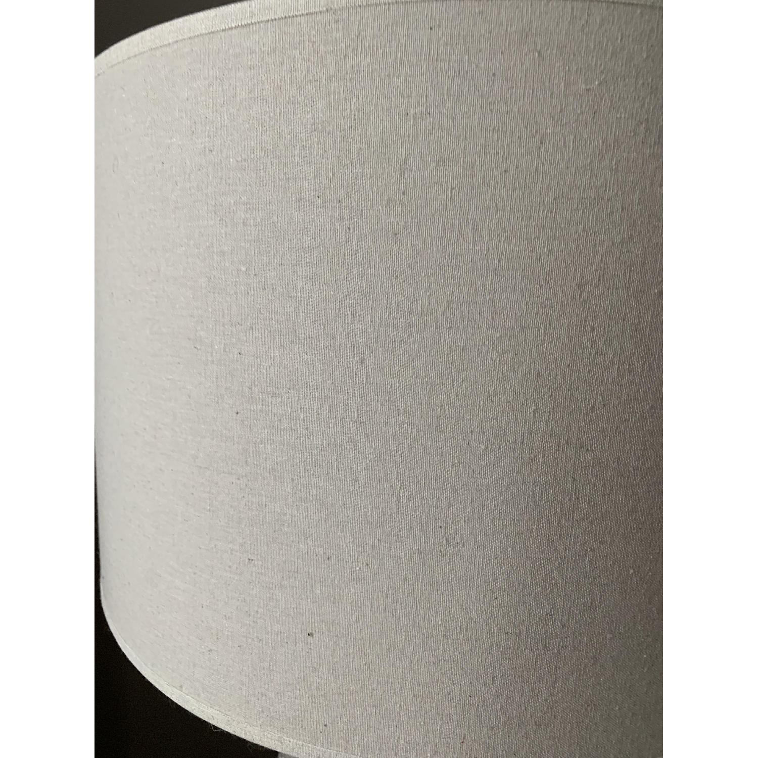 Crate & Barrel Cane Grey Table Lamp-4