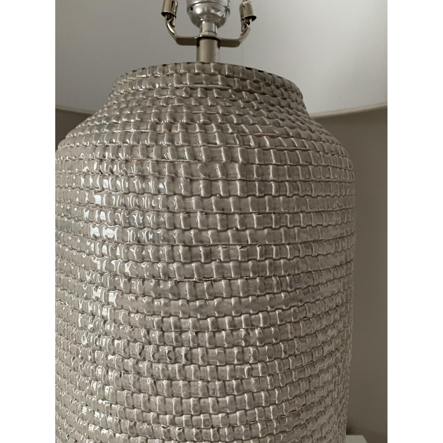 Crate & Barrel Cane Grey Table Lamp-5