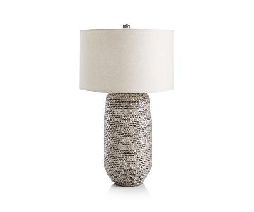 Crate & Barrel Cane Grey Table Lamp