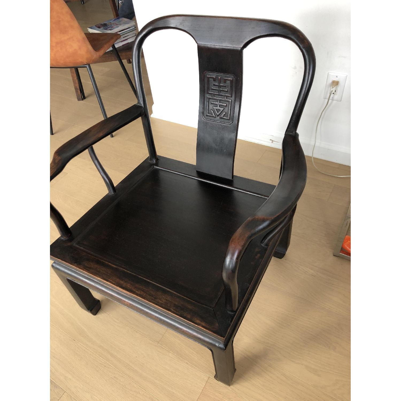 Antique Asian Accent Chair-5