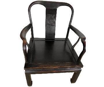 Antique Asian Accent Chair