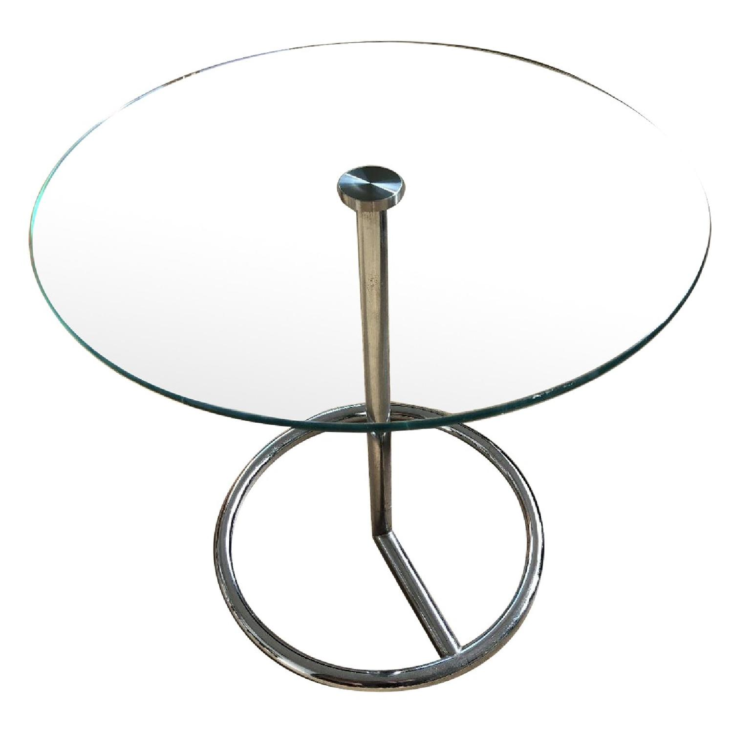 CB2 Smart Round Side Table