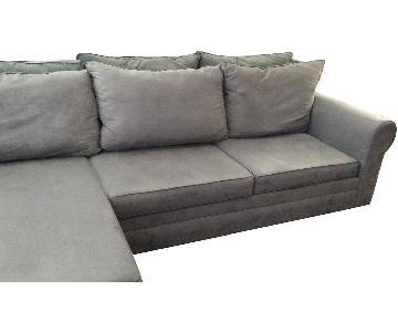 May Dark Grey 2 Piece Sectional Sofa