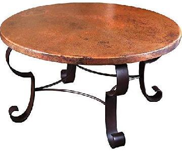 Mallorca Round Copper Coffee Table
