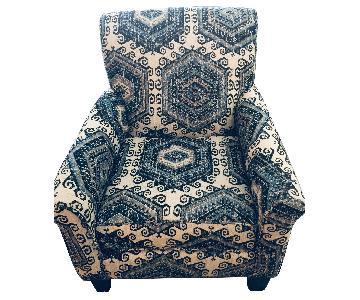 Bob's Multi-Colored Blue Grey Cream Armchair