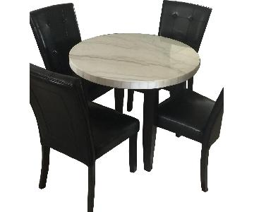 Bob's Natural & Grey Stone Round Dining Table w/ 4 Chairs