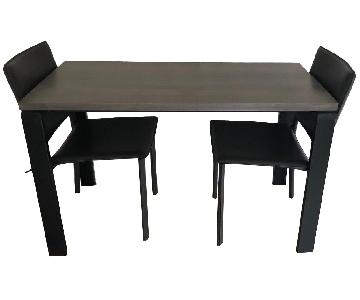 Room & Board Counter Table w/ 2 Chairs