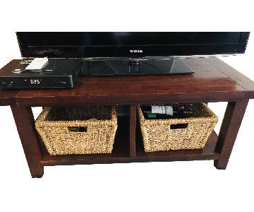 Bob's TV/Media Bench w/ 2 Baskets