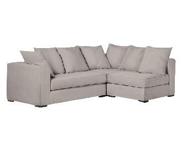 West Elm 3-Piece Left Chaise Sectional Sofa