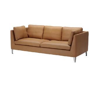 Ikea Stockholm Leather Sofa