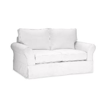 Pottery Barn Comfort Roll Arm Loveseat