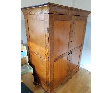 Tigers Eye Maple Solid Wood Armoire