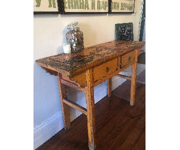 ABC Carpet and Home Vintage Distressed Table