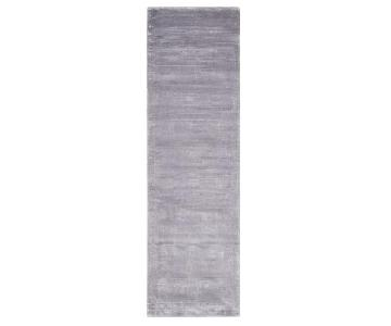 Calvin Klein Home Luminescent Rib Mercury Area Rug