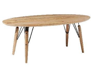 West Elm Industrial Wood Coffee Table