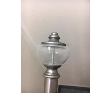 Smith/Noble Platinum Curtain Rod w/ Spherical Finials