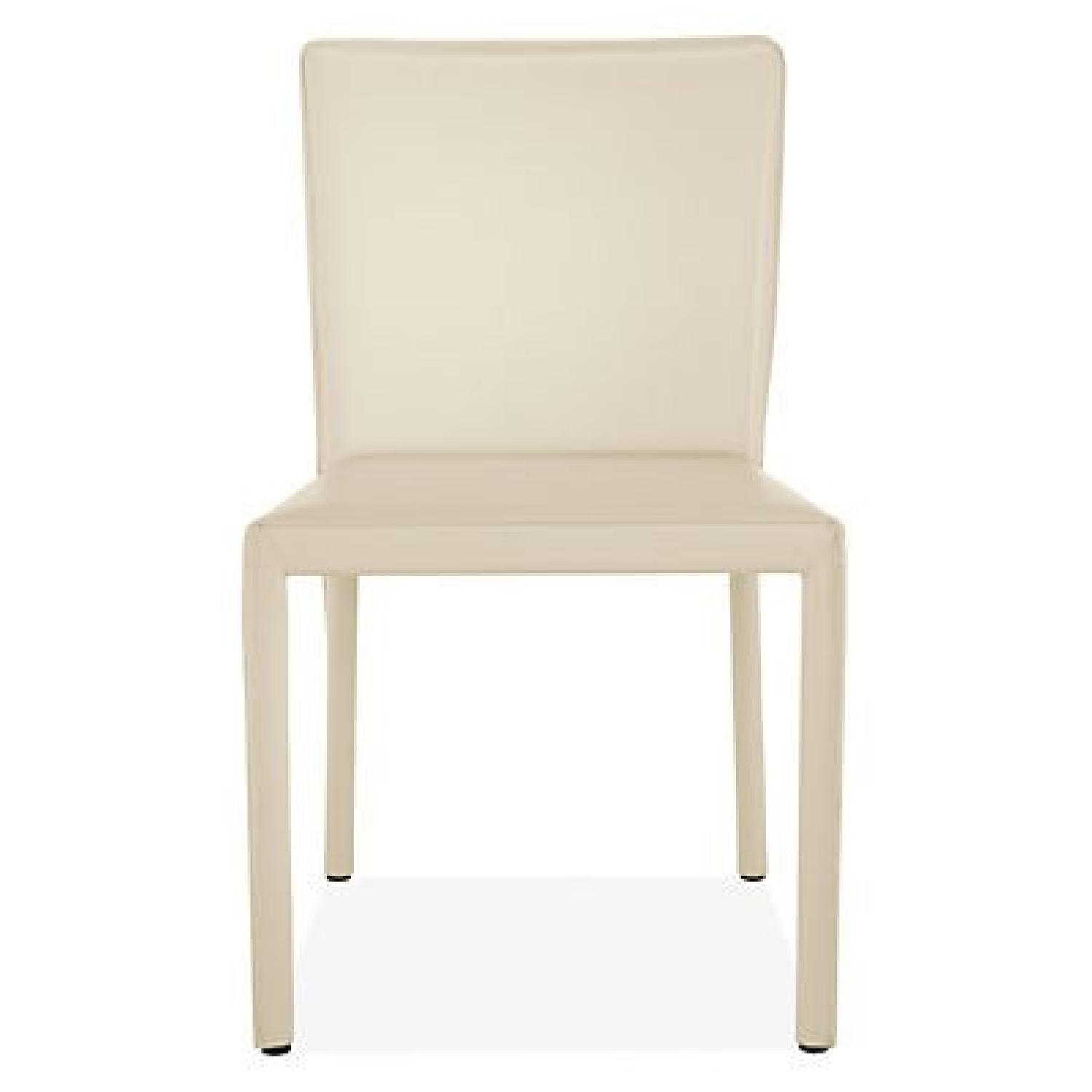 Room & Board Sava Dining Chairs in Ivory Leather