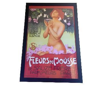 Fleurs De Mousse Vintage French art