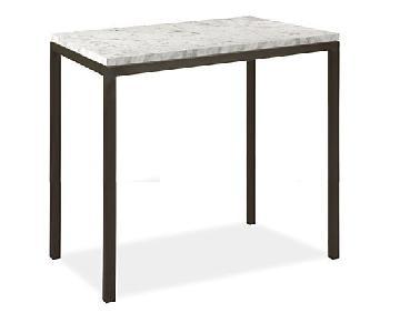Room & Board Counter Table w/ White Venatino Marble Top